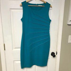 Calvin Klein Turquoise Sunburst Sheath Dress
